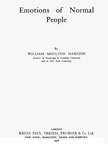 Emotions of normal people by William Moulton Marston book cover